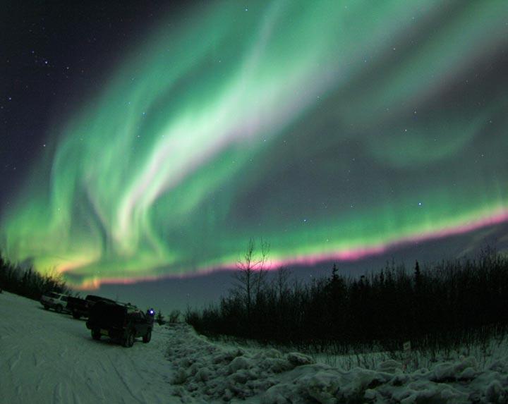 Aurora viewing, Fairbanks, Alaska