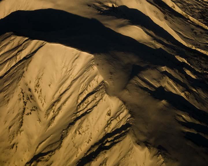Snowy mountains, Alaska