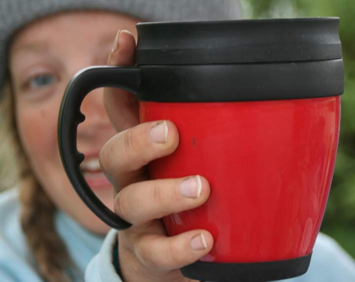 Coffee mug close up