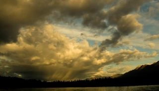 Rain in the horizon, Yukon, Canada