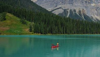 Canoe on Emerald Lake, Yoho National Park, BC