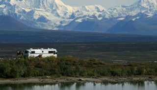 RV camp with a view, Denali Highway, Alaska