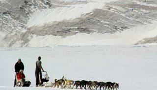 Dog sledding, Knik Glacier, Alaska