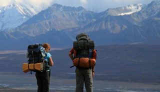 Backpackers in Denali National Park, Alaska