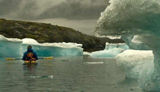 Kayaking near Columbia Glacier, Alaska