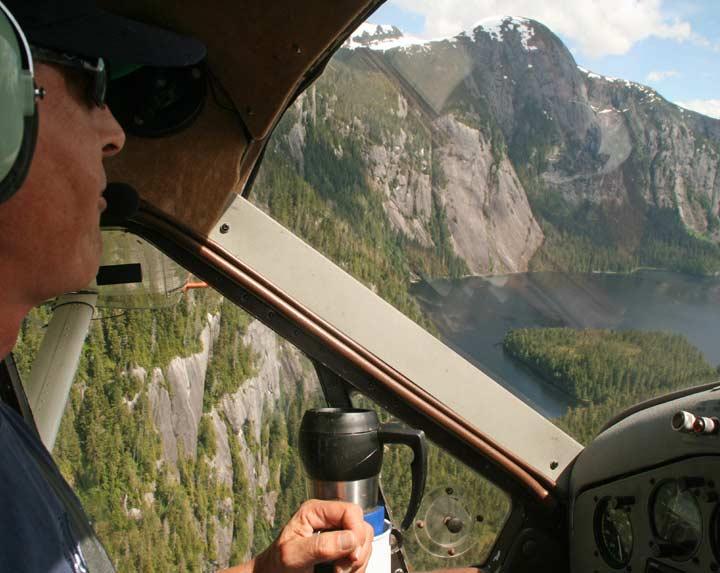 Flightseeing over Misty Fjords National Monument, Alaska