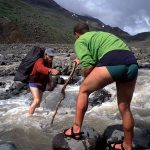 River Crossing in Wrangell St. Elias National Park, Alaska