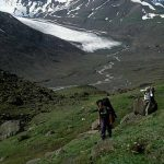 Backpackers in Wrangell St. Elias National Park, Alaska