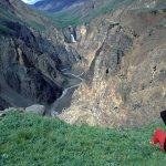 Hiker in Wrangell St. Elias National Park, Alaska