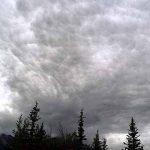 Dramatic sky over Wrangell St. Elias National Park, Alaska