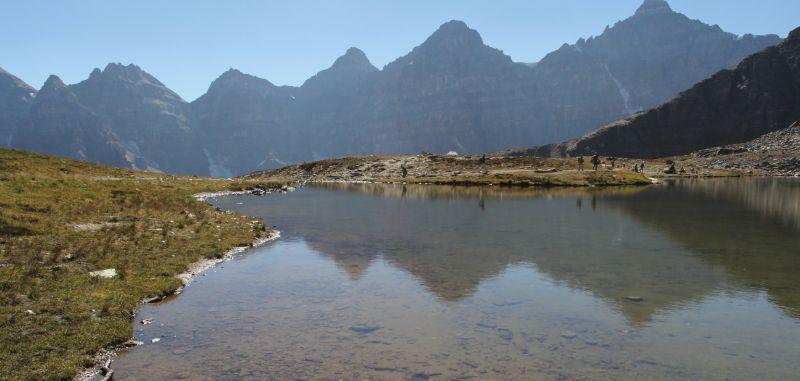 Alpine Lake near Sentinel Pass, Banff National Park, AB