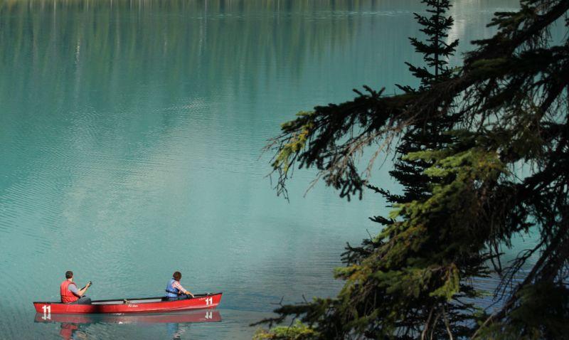 Canoe, Emerald Lake, Yoho National Park, BC