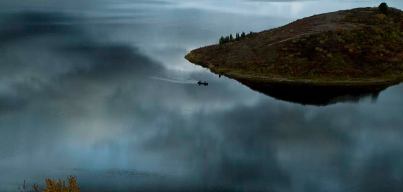 Canoe, Tangle Lake, Denali Hwy, Alaska