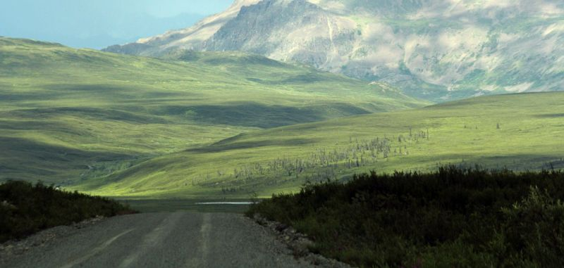Mountain views from the Denali Highway, Alaska