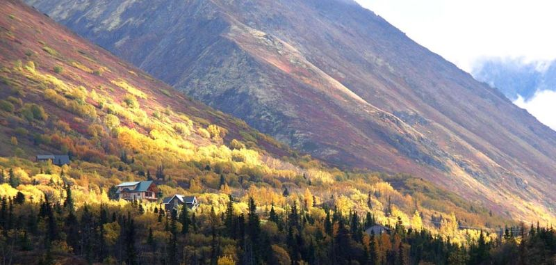 Fall colors in Eagle River, Alaska