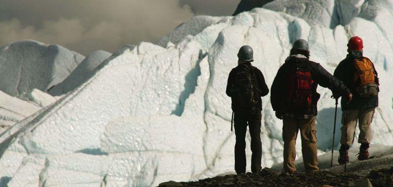 Glacier hiking on the Matanuska Glacier, Alaska