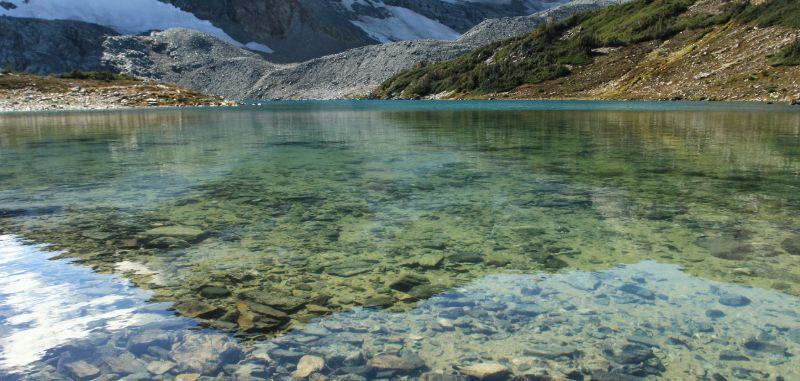 Alpine lake near Nuk Tessli, British Columbia