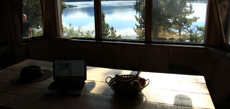View from the dining room, Nuk Tessli Wilderness Experience, BC