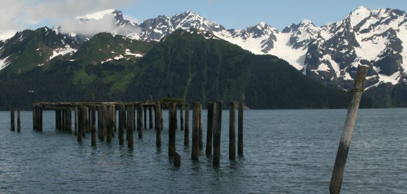 Deserted dock, Seward, Alaska