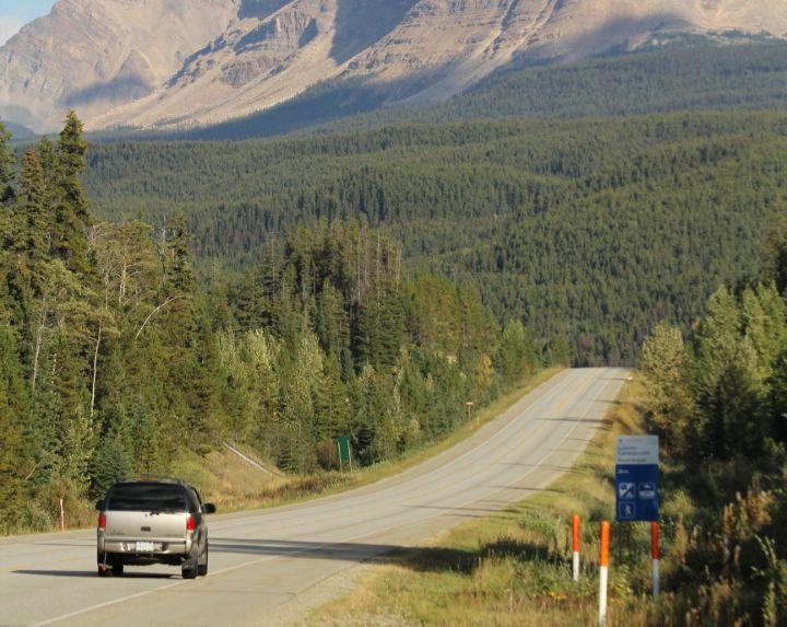 Yellowhead Highway, north of Jasper, AB