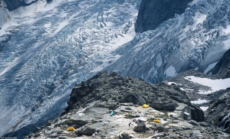 High camp for mountain climbers in Bugaboo Provincial Park, BC